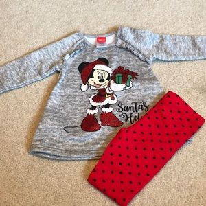 NWT Disney Holiday 2 piece set Girls 3T Minnie